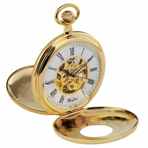 Double Half Hunter Gold Plated Pocket Watch