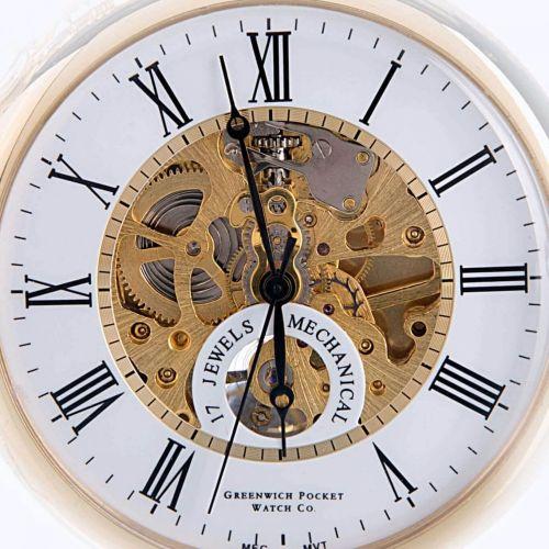 The Eltham - Gold Mechanical Open Face Pocket Watch