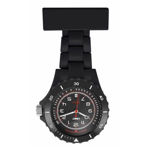Black Resin Nurse Fob Watch