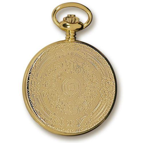 Gold Tone Mechanical Half Hunter Pocket Watch