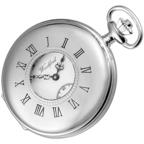 Swiss Movement Sterling Silver Half Hunter Mechanical 17 Jewel Pocket Watch