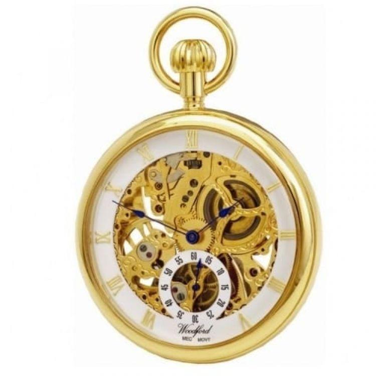 Gold Plated 17 Jewel Mechanical Open Face Pocket Watch 1044