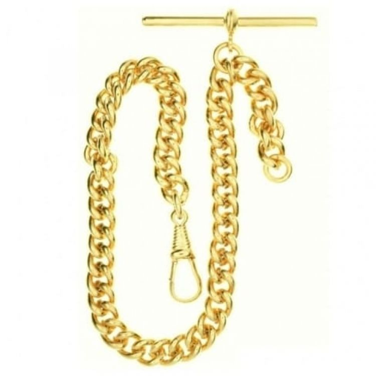 9ct Rolled Gold 9.25 Inch Single Albert Pocket Watch Chain
