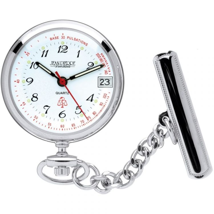Polished Chrome Quartz Nurses Fob Watch