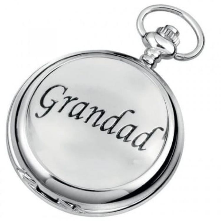 Grandad Chrome Plated Full Hunter Pocket Watch