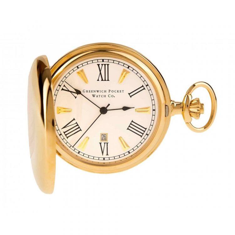 The Blenheim - Gold Quartz Full Hunter Pocket Watch