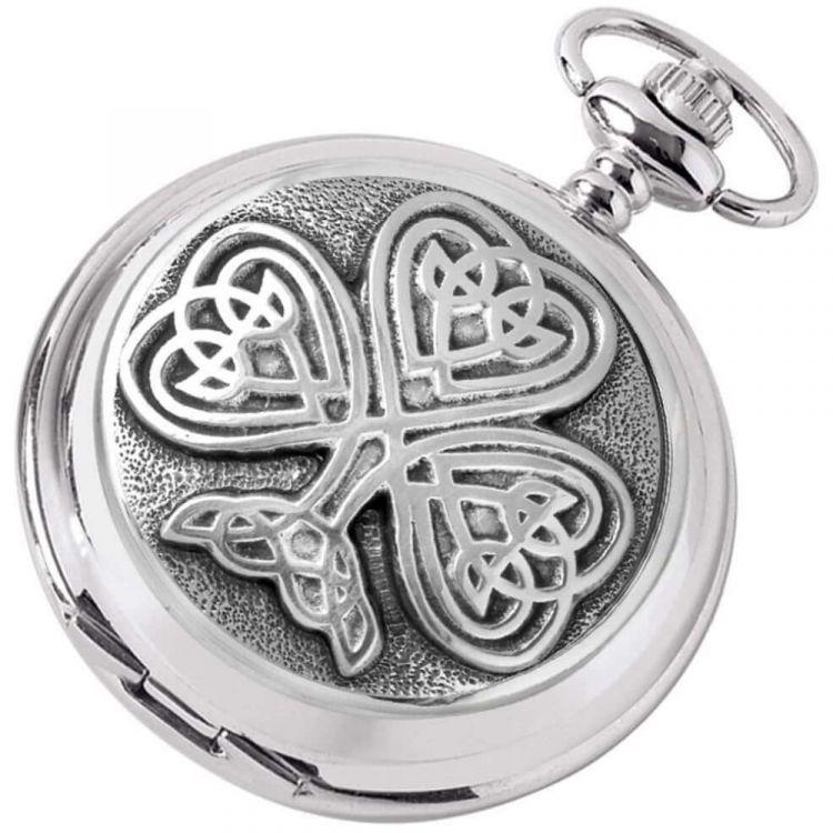 Celtic Tree Of Life Skeleton Full Hunter Pocket Watch