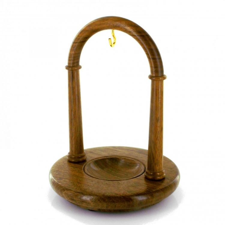 Walnut Finished Arched Pocket Watch Wood Stand
