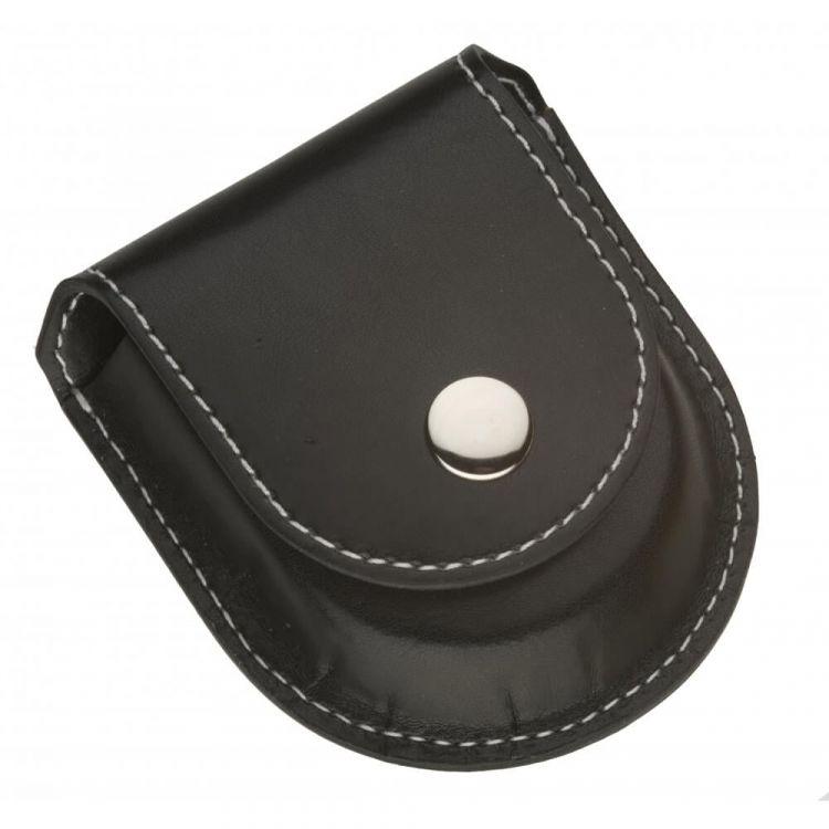 Black Leatherette Pocket Watch Pouch