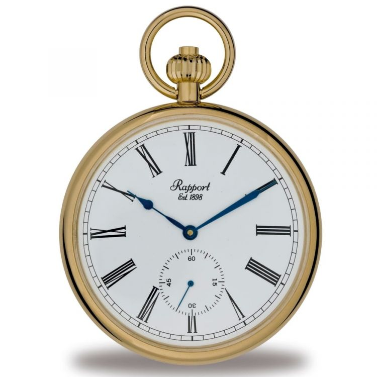 Mechanical Open Face Gold Toned Pocket Watch