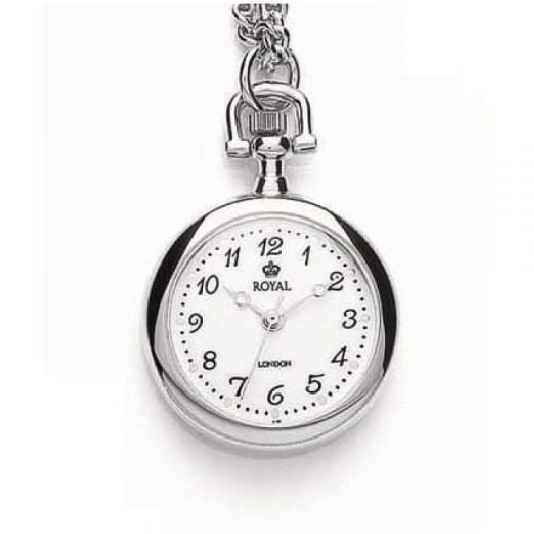 Stainless Steel Silver Plated Quartz Pendant Necklace Watch