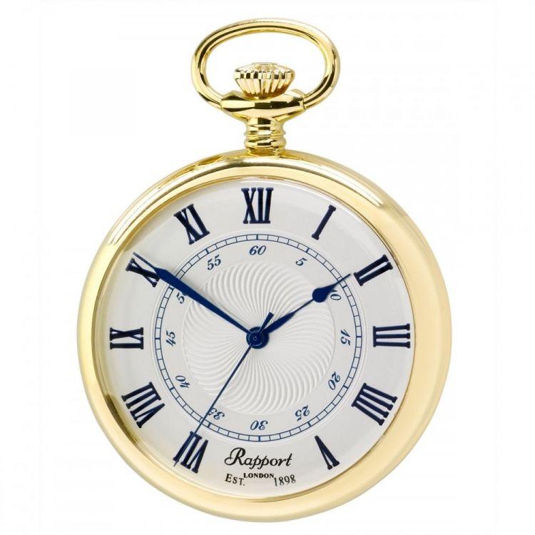 Open Face Quartz Gold Plated Pocket Watch