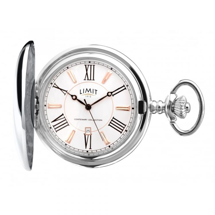 Gents Full Hunter Silver Tone Pocket Watch