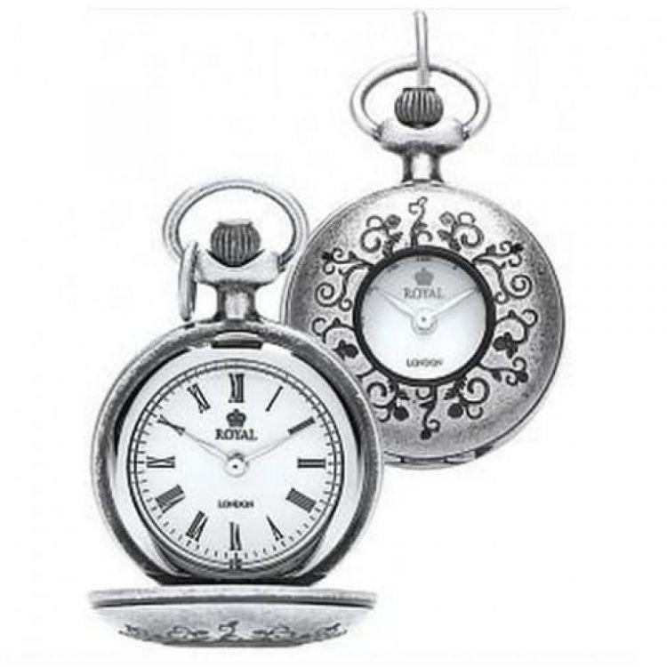 Ladies Grey PVD Pendant Necklace Watch