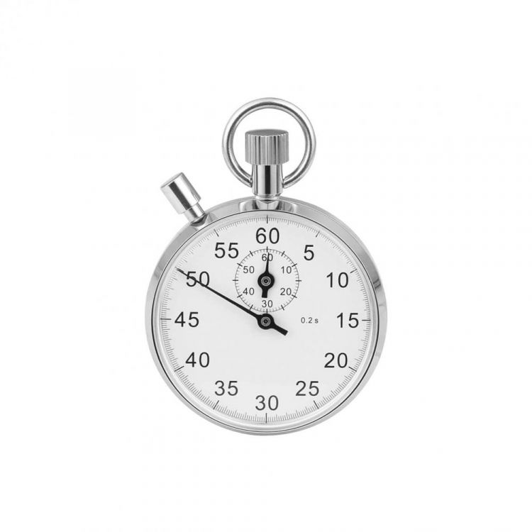 Chrome Plated 16 Jewels Stopwatch