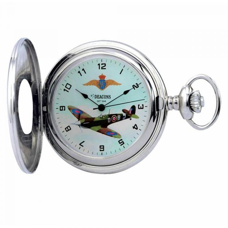 Half Hunter Supermarine Spitfire Mark V Mechanical Pocket Watch