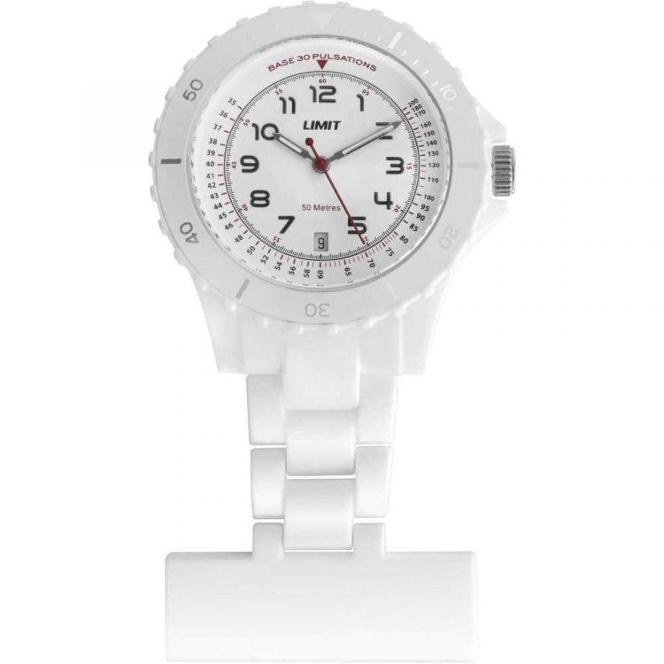 White Silicone Nurse Fob Watch