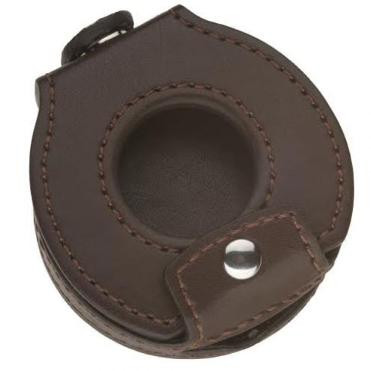 Brown Leatherette Pocket Watch Case